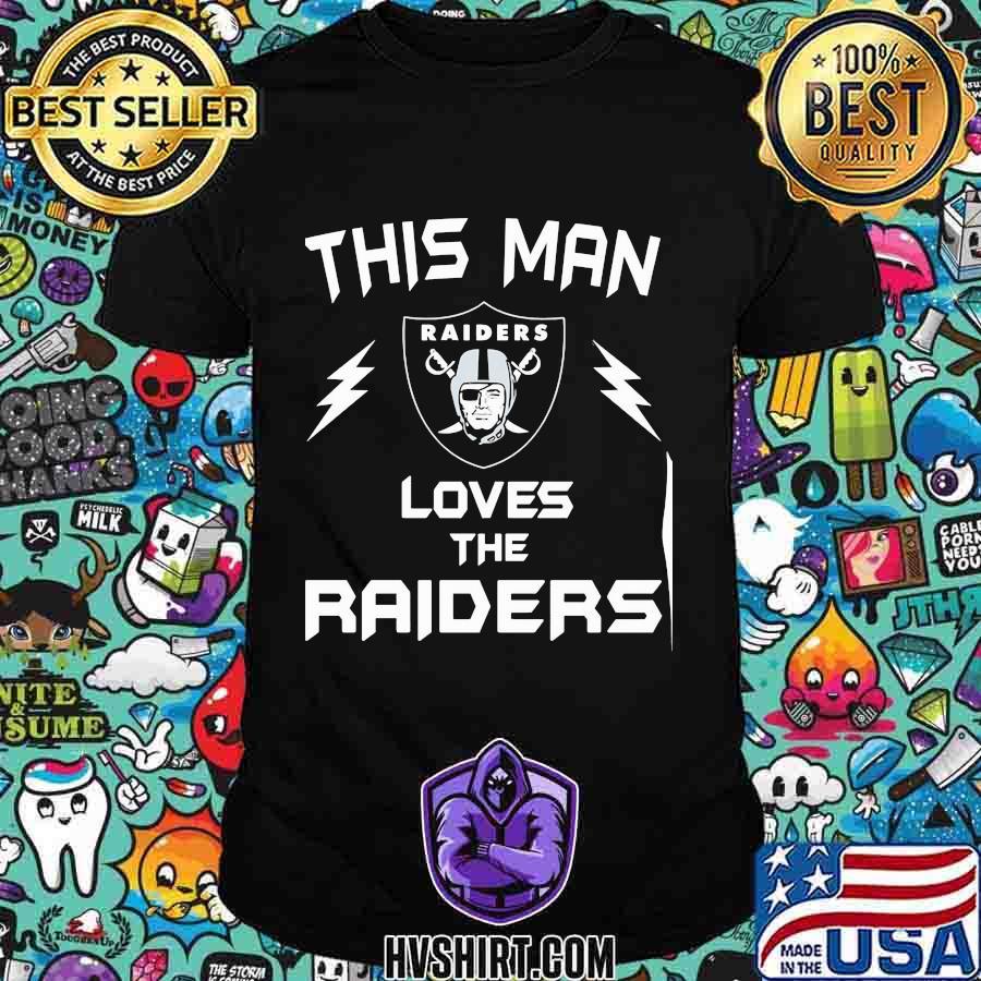 This man loves the oklahoma raiders shirt