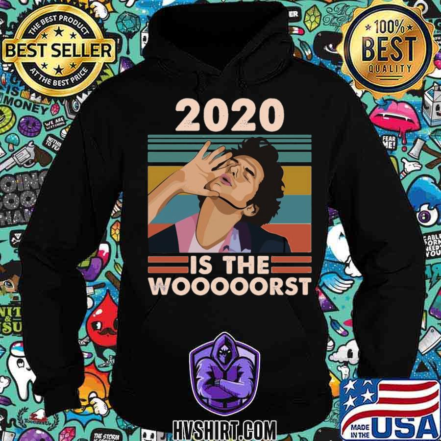 2020 is the worst fitted vintage retro s Hoodie