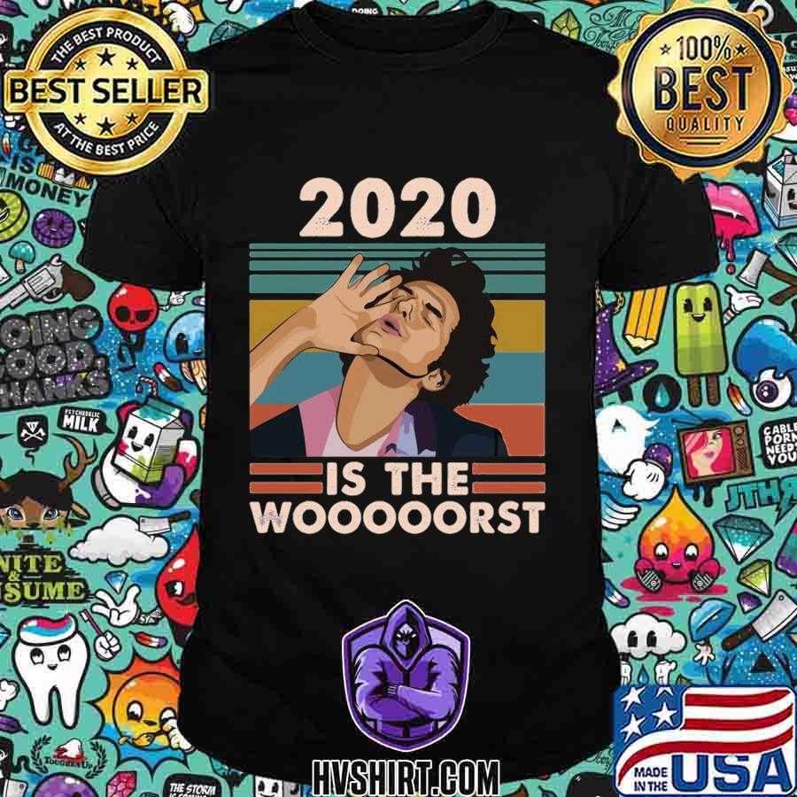 2020 is the worst fitted vintage retro shirt
