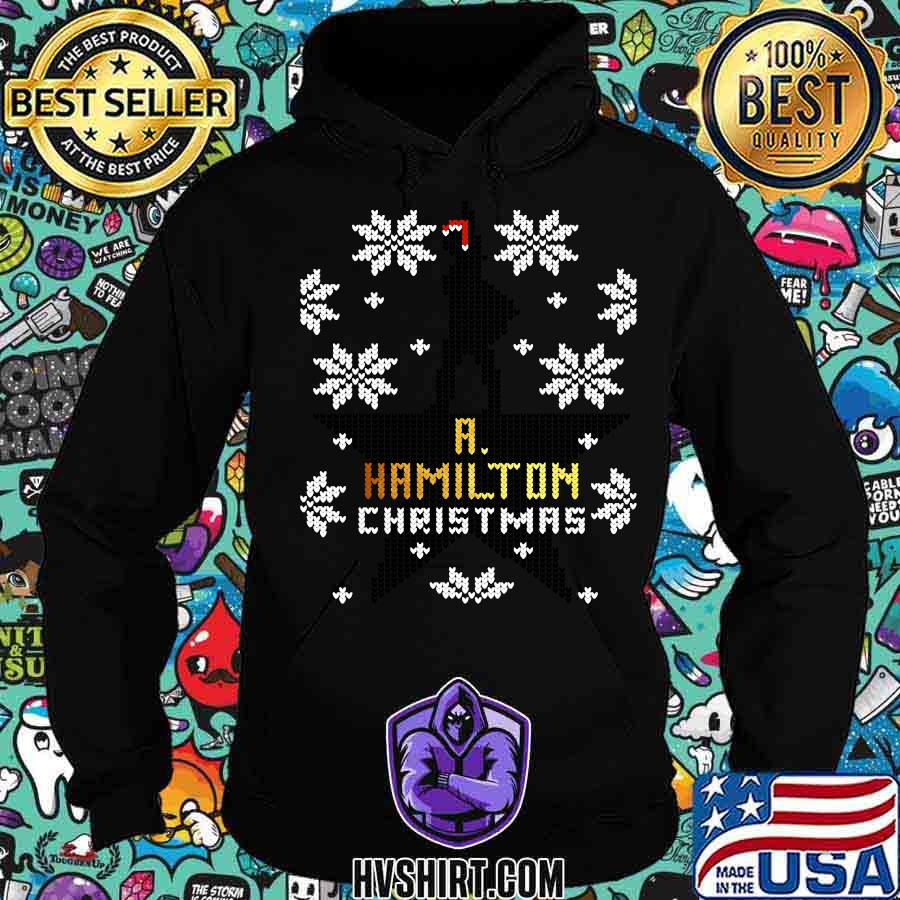 Christmas a hamilton ugly sweater stars s Hoodie