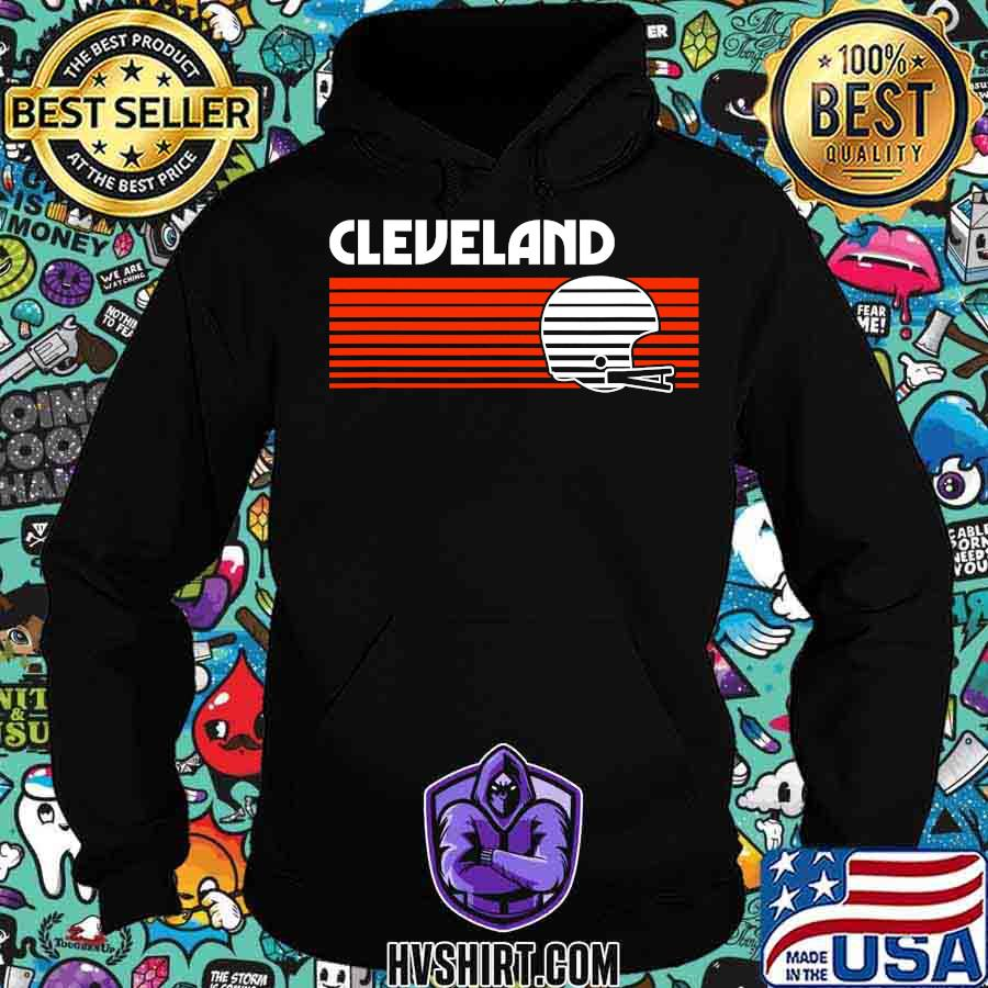 Cleveland football helmet retro game day s Hoodie