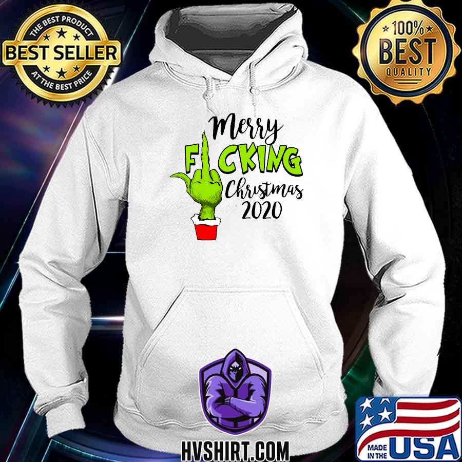 Merry fucking christmas santa g rinch middle finger hand 2020 s Hoodie