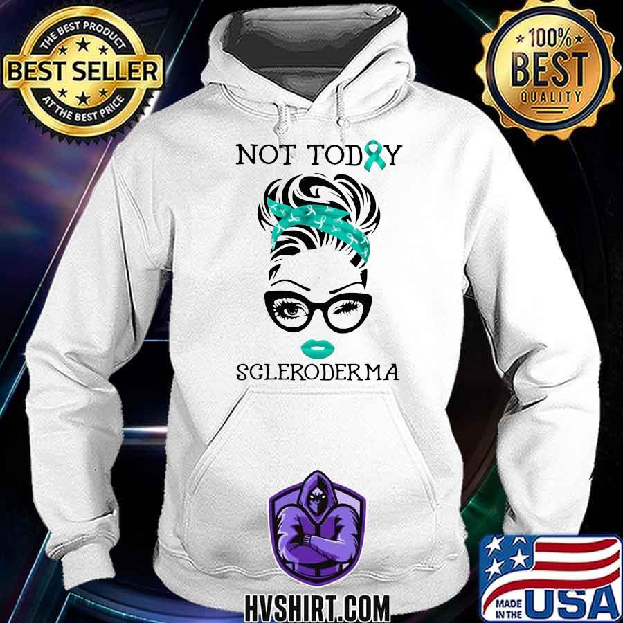 Not To Day Scleroderma Ladies Ribbon Blue Shirt