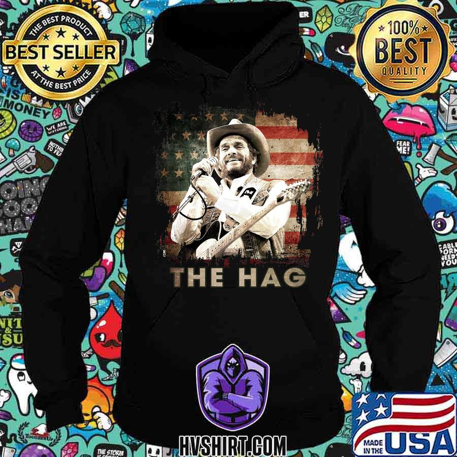 The hag outlaw musical graphic merle american flag s Hoodie