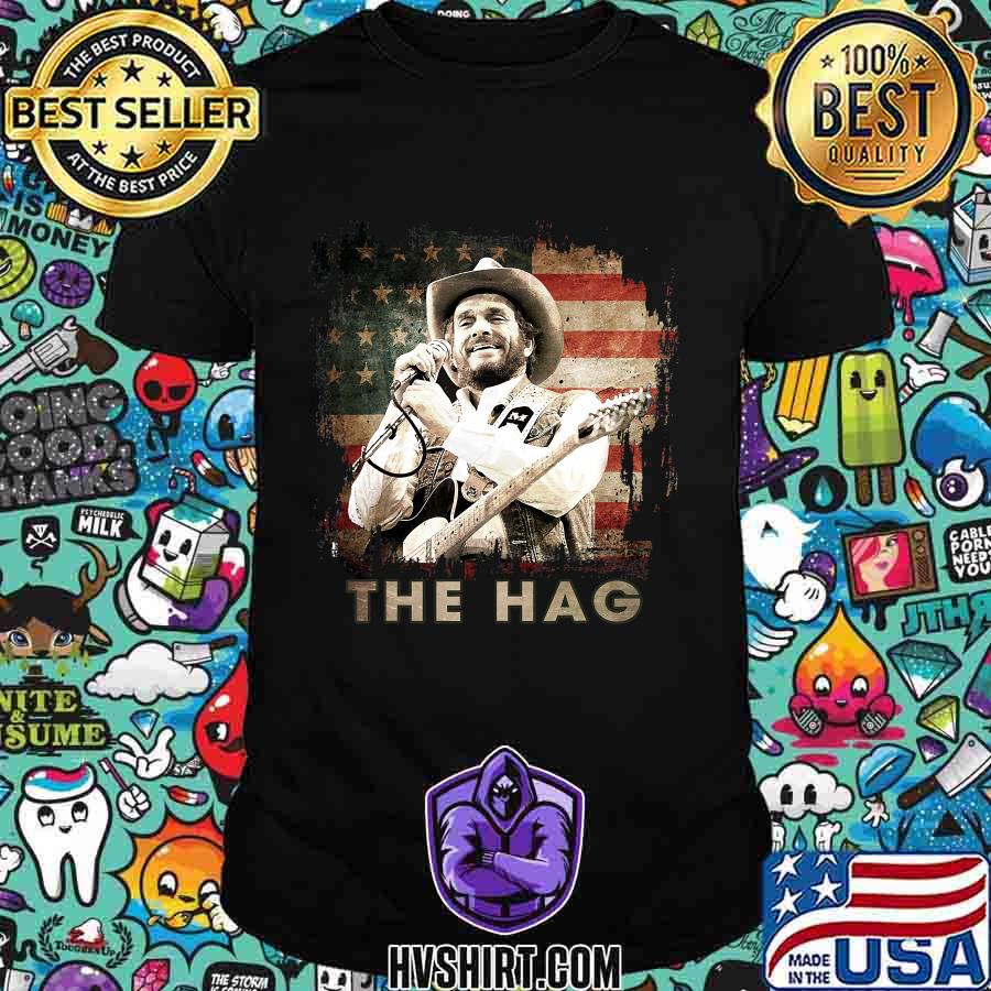 The hag outlaw musical graphic merle american flag shirt