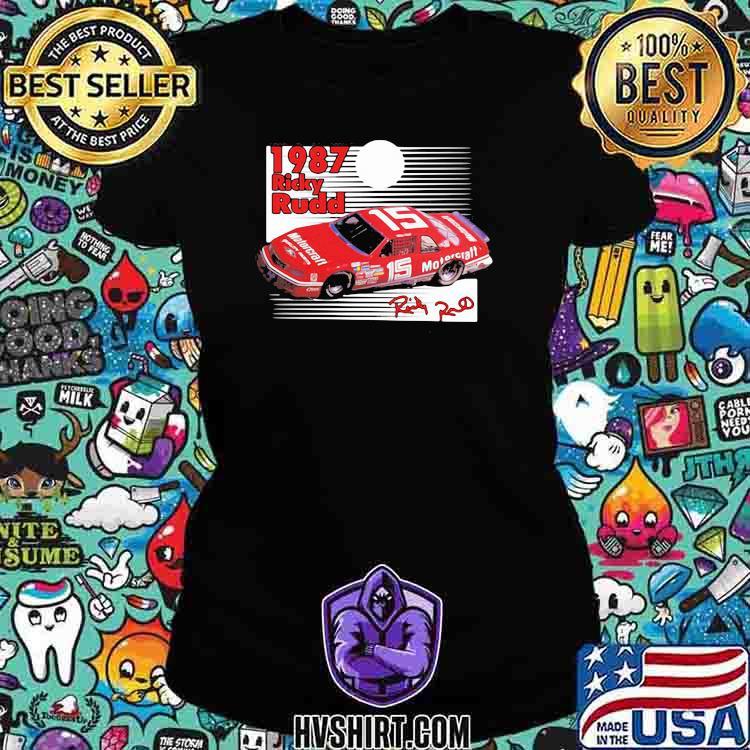 1987 Nascar Ricky Rudd Signature Shirt Ladiestee