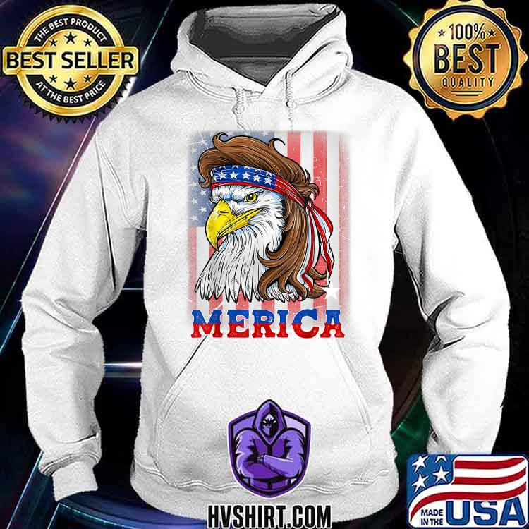 4th Of July Patriotic Eagle Mullet Shirt American Flag USA Shirt Hoodie