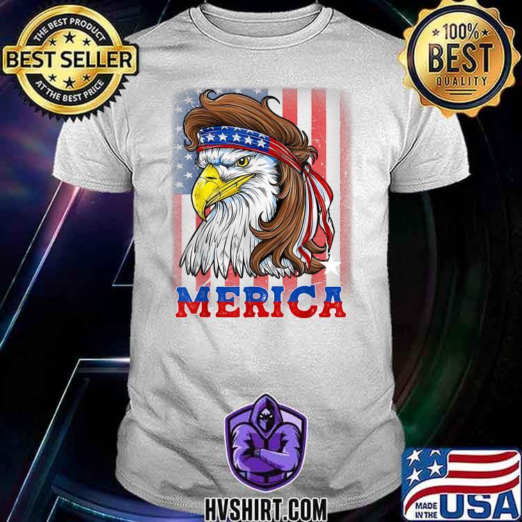 4th Of July Patriotic Eagle Mullet Shirt American Flag USA Shirt