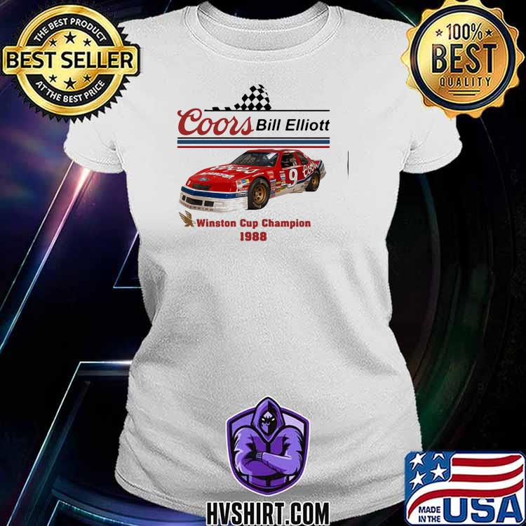 Coors Bill Elliott Winston Cup Champion 1988 Shirt Ladiestee