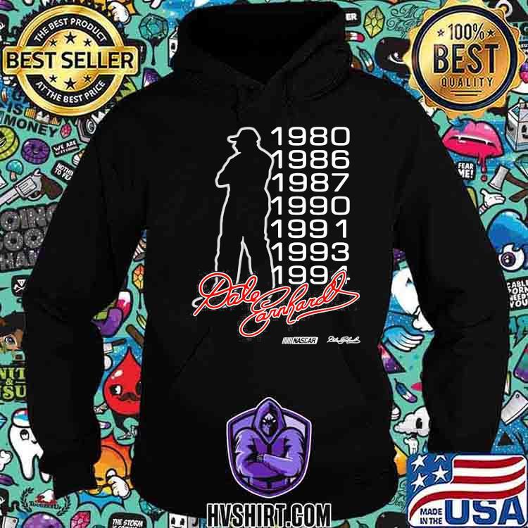 Dale Earnhardt Nascar Racing Signature 1980 1994 Shirt Hoodie