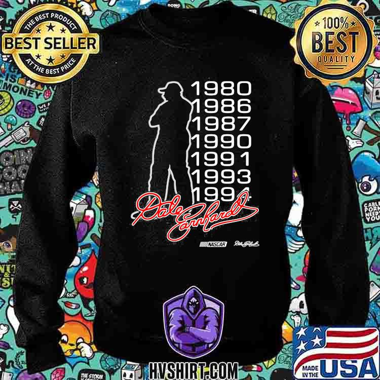 Dale Earnhardt Nascar Racing Signature 1980 1994 Shirt Sweatshirt