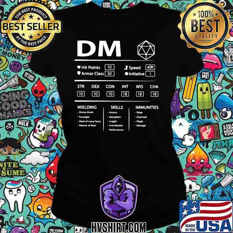 DM Wielding Skills Immunities Shirt Ladiestee