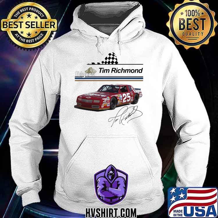 Folgers Tim Richmond Nascar Signature Shirt Hoodie