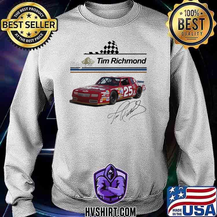Folgers Tim Richmond Nascar Signature Shirt Sweatshirt