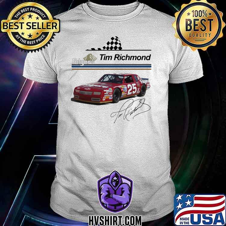 Folgers Tim Richmond Nascar Signature Shirt