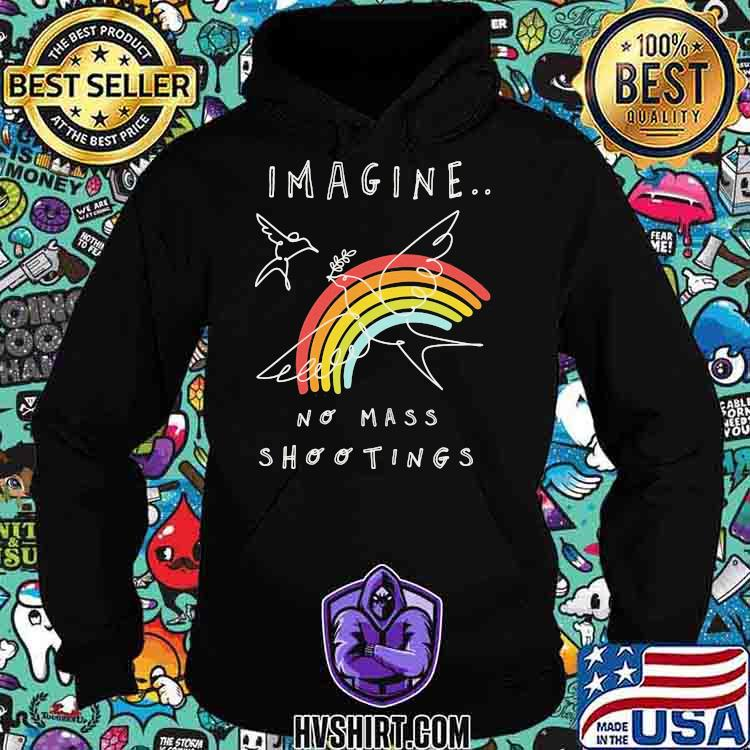 Imagine No Mass Shootings Youth Rainbow Bird Shirt Hoodie