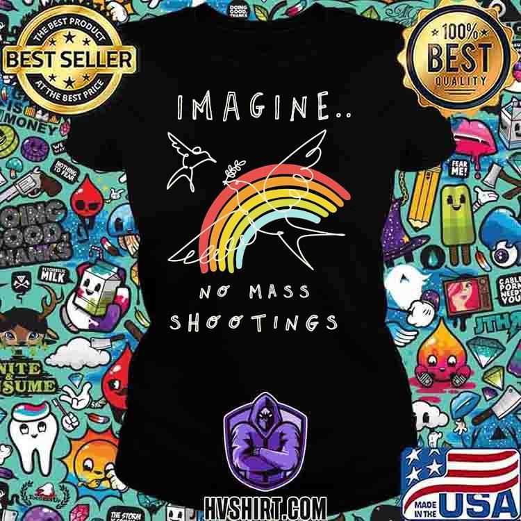 Imagine No Mass Shootings Youth Rainbow Bird Shirt Ladiestee