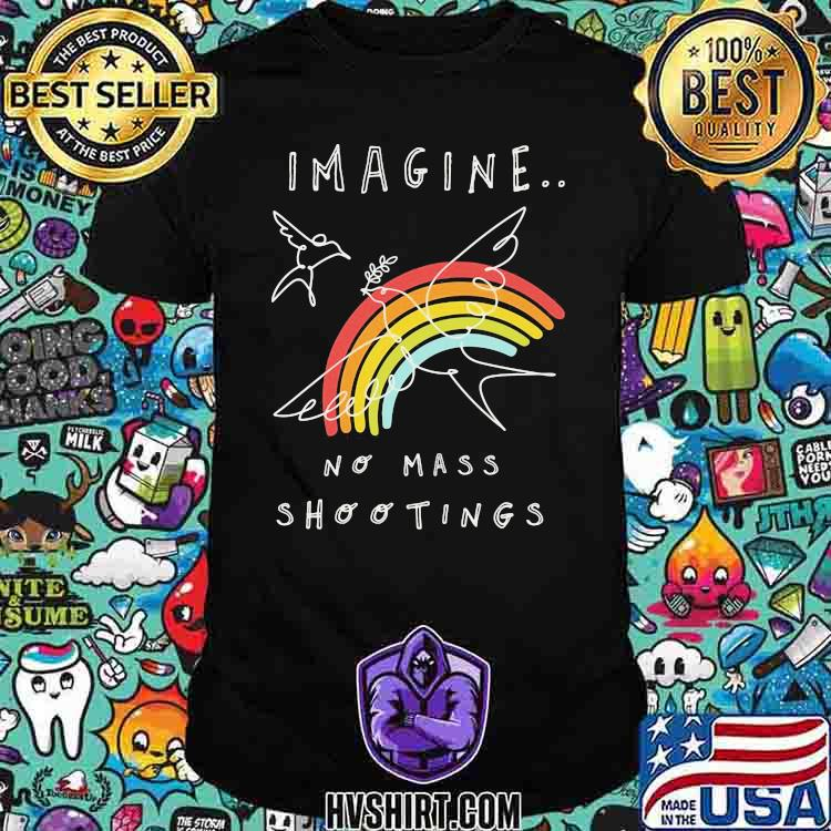 Imagine No Mass Shootings Youth Rainbow Bird Shirt