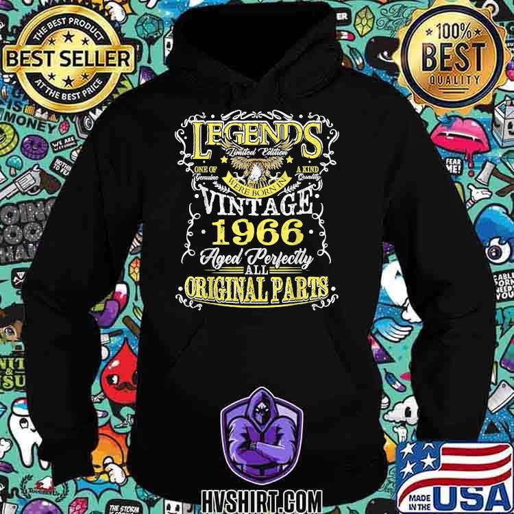Legend Born In 1966 Original Parts Eagle Shirt Hoodie