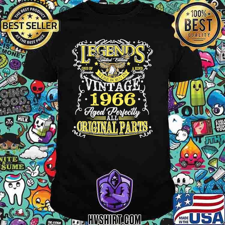 Legend Born In 1966 Original Parts Eagle Shirt