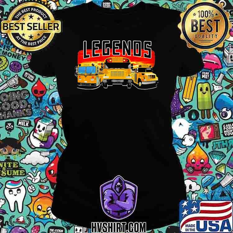 Legends School Bus Shirt Ladiestee