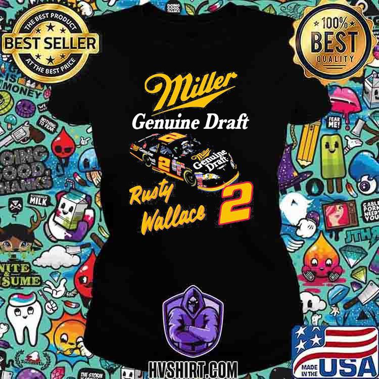 Miller Genuine Draft Rusty Wallace Shirt Ladiestee
