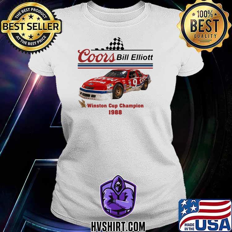 Nascar Coor Bill Elliott Winston Cup Champion 1988 Shirt Ladiestee
