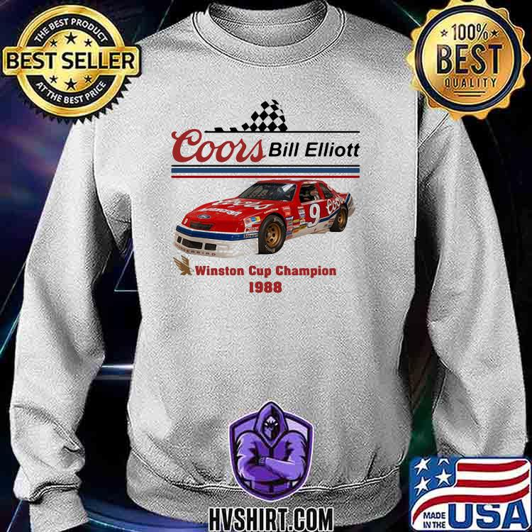 Nascar Coor Bill Elliott Winston Cup Champion 1988 Shirt Sweatshirt
