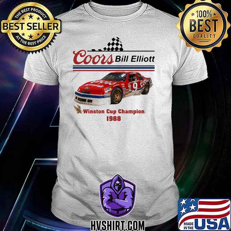 Nascar Coor Bill Elliott Winston Cup Champion 1988 Shirt