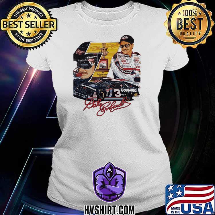Nascar Dale Earnhardt Signature Shirt Ladiestee