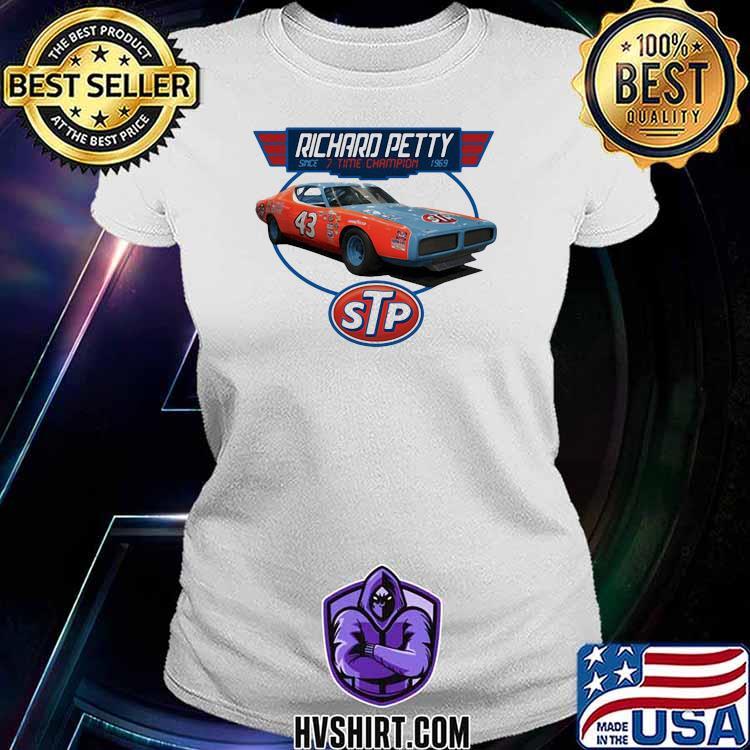 Nascar Richard Petty 7 Time Grand National Champion Signature Shirt Ladiestee