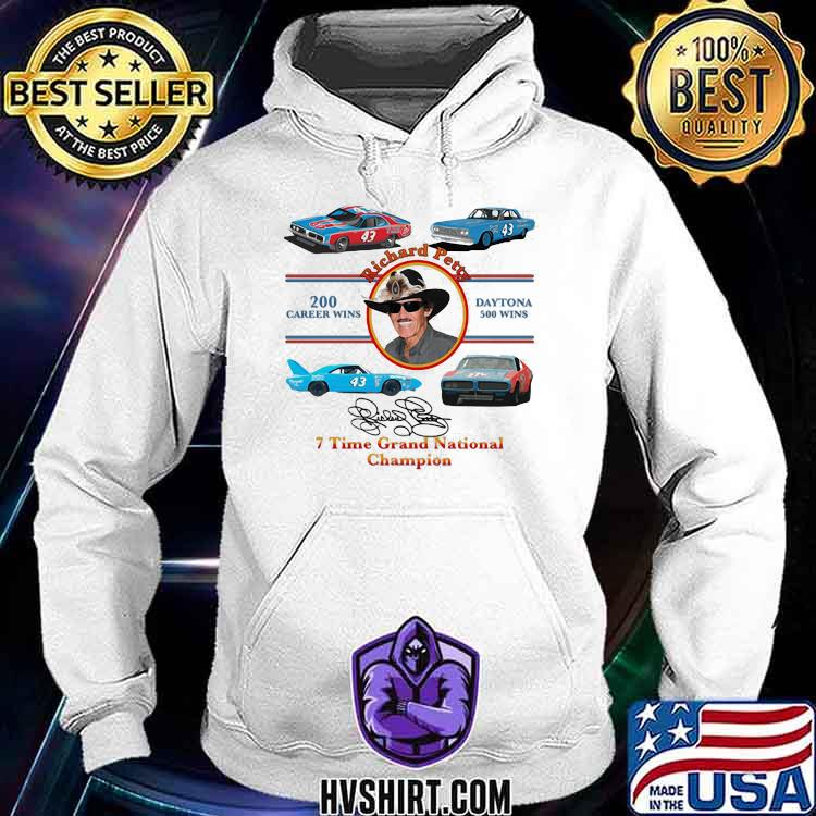 Nascar Richard Petty Time Grand National Champion Signature Shirt Hoodie