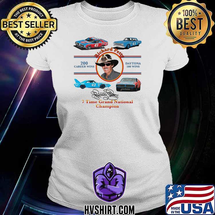 Nascar Richard Petty Time Grand National Champion Signature Shirt Ladiestee
