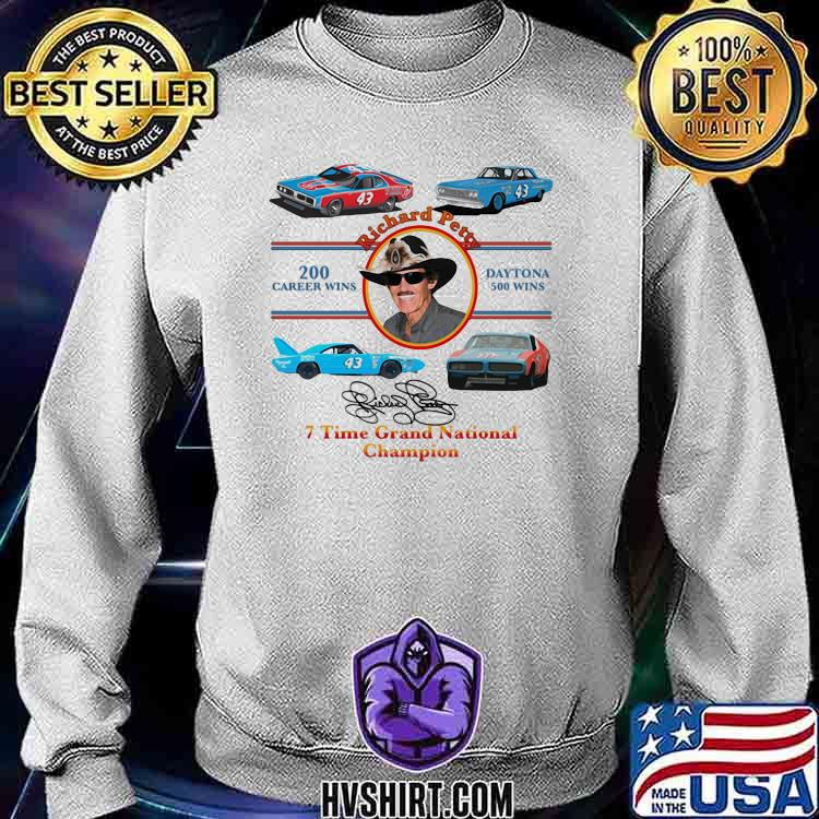 Nascar Richard Petty Time Grand National Champion Signature Shirt Sweatshirt