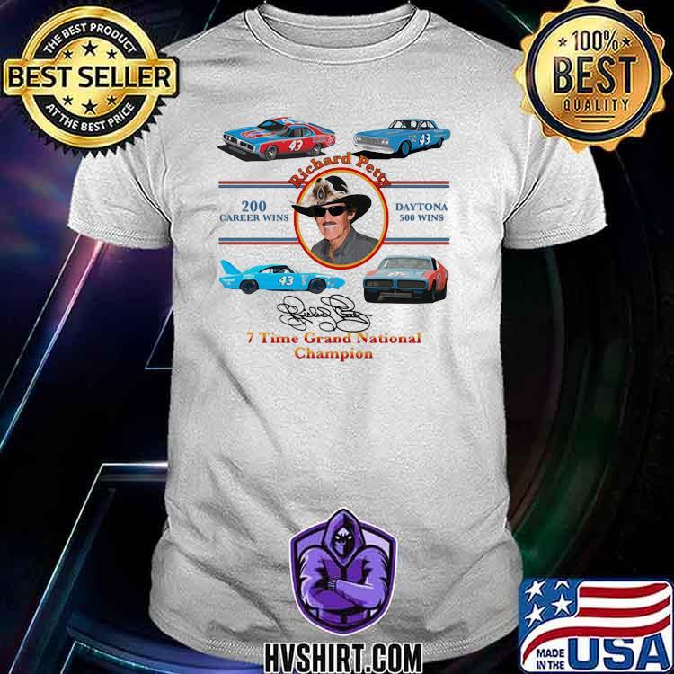 Nascar Richard Petty Time Grand National Champion Signature Shirt