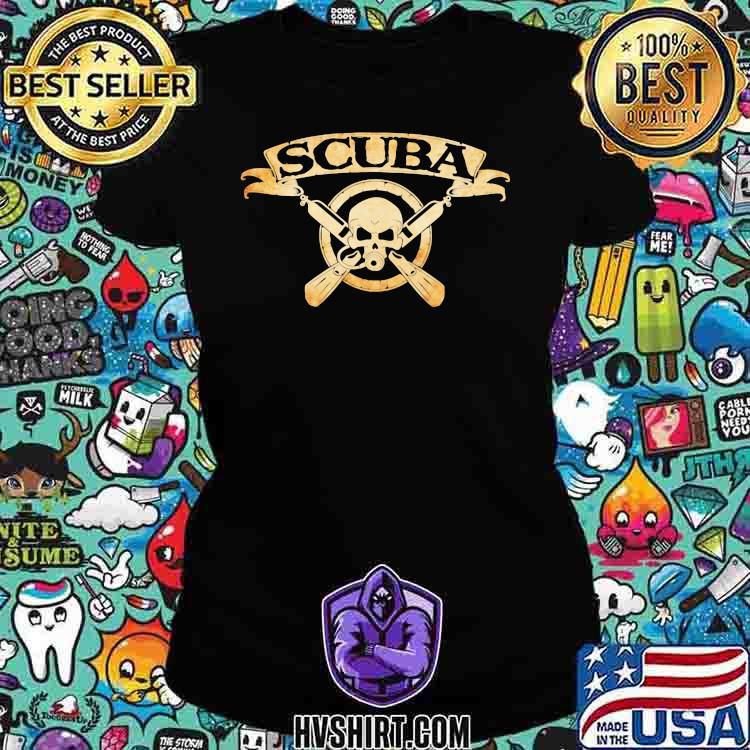 Scuba Diving Scuba Skull Shirt Ladiestee