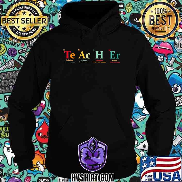 Teacher Tellcurium Actinium Hydrogen Erbium Shirt Hoodie