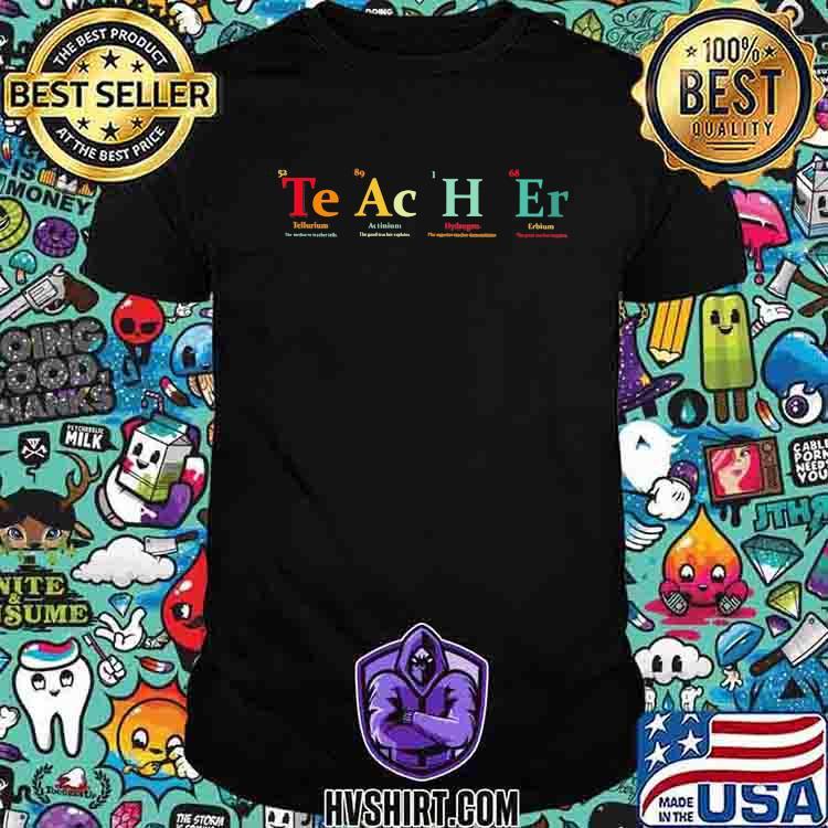 Teacher Tellcurium Actinium Hydrogen Erbium Shirt