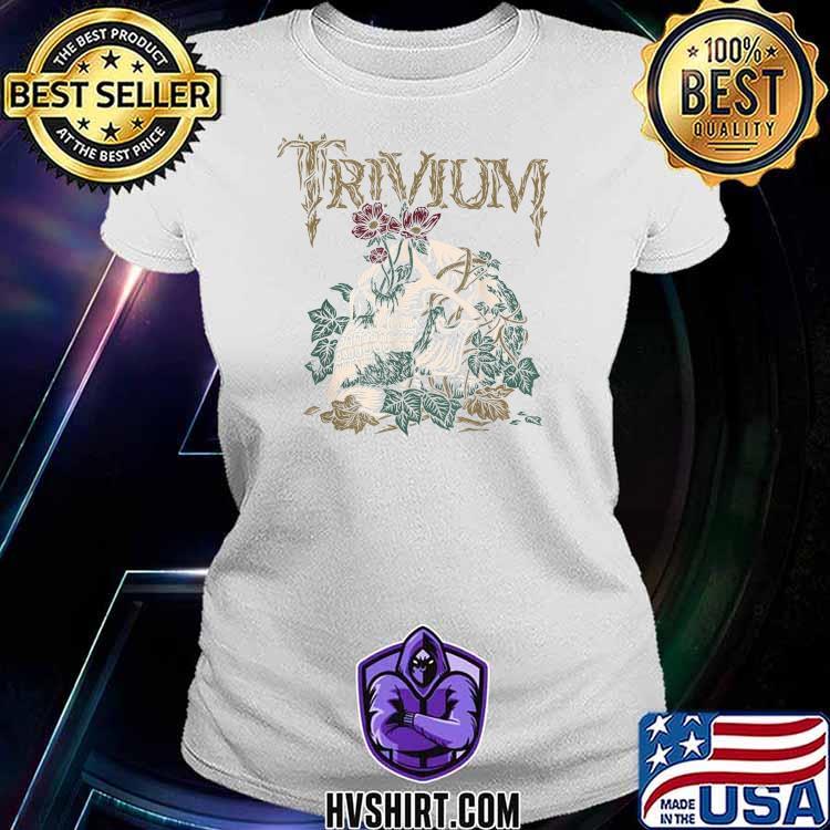 Trivium Skelly Flower Shirt Ladiestee