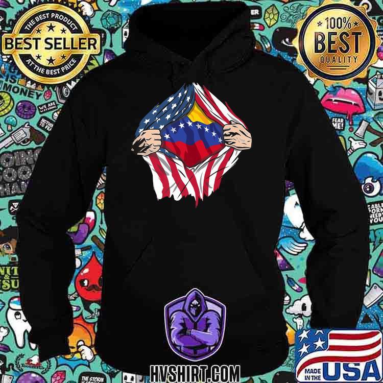 Venezuela Premium American Flag Shirt Hoodie