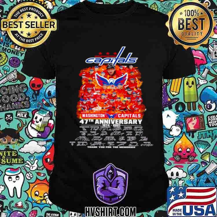Washington capitals 47th anniversary 1974 2021 thank you for the memories shirt
