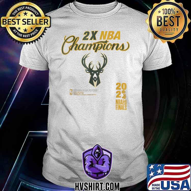 2X NBA Buck championship 2021 T-Shirt